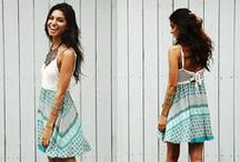 Summer/Boho Fashion / In the summer, a relaxed effortless look can never go out of style