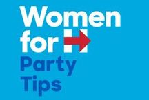 Organizing 101: House Parties for Hillary / Everything you need to throw a successful Women for Hillary House Party!