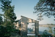 Living in the green / Green architecture, eco buildings, cabins, nature