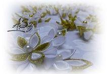 gwiazdki, ozdoby choinkowe KANZASHI / Ozdoby choinkowe, wykonywane w 100-u % ręcznie, więcej na mojej stronie :) https://www.facebook.com/szpileczka.00