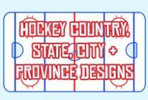 Hockey Country, State & Province Flag Designs / Flag designs in various styles for hockey playing nations around the world! Plus US state and Canadian province designs. All available in my Zazzle & Cafepress stores!