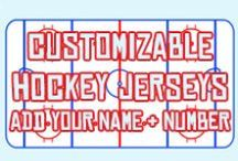 Customize Your Own Hockey Jersey! / Country, US State and Canadian Province flag hockey jerseys, for fans, rec league and beer league players, or just cos you want an unique hockey jersey!