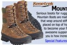 Kenetrek Mountain Boots / Serious boots for rugged terrain, the Kenetrek Mountain Boots are made with thick leather uppers that wrap around stiff supportive nylon midsoles places on top of high traction outsoles.