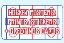 Hockey Art! On canvas, posters, cards, stickers . / Hockey posters, canvas prints, stickers, birthday cards and more. Available in Game Face Gear's Zazzle and CafePress stores.