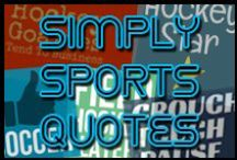 Simply Sports Quotes / Sometimes you just want words on a t-shirt or a card or a print!  Simple Sports Quotes features hockey, lacrosse, soccer, field hockey, rugby and other sports quotes and sayings. http://behappy.me/simplysportsquotes