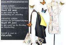 Mobiele Atelier / Het mobiele atelier biedt cursussen en workshops aan. Onder andere: Naaien en patroontekenen, jongeren cursus, moulage technieken, Marokkaanse kleding maken etc.