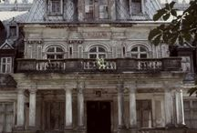 Abandoned / Visiting abandoned mansions is a kind of time travel, looking at the world, suspended in time, deteriorating naturally, lonely yet minting the grandeur of its theatrical, incredible architecture