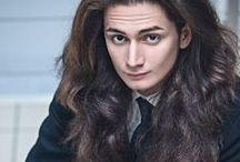 Long haired (hair) man