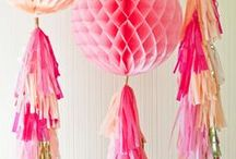 Poms, Garland and Hanging Decor