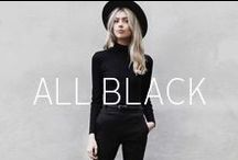 All black | OTTO / I'll stop wearing black when they invent a darker color. Laat je inspireren door OTTO's pinterest board met outfits met zwarte kleding!