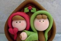Nativity / Nativity realized with fimo