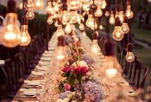 Creative Wedding Details / Creative wedding ideas for locations, table settings, arches and isles.