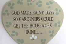 Gardening signs and quotes
