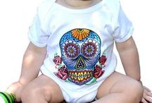 Infant Clothing / Printed infant 100% cotton snap bottom onesies made in the good ol' USA.