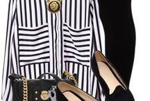 Black, white and stripes