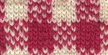 punti maglia a più colori /  jacquard, punti con colori diversi e intarsio