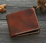 Leather bifold wallets / Custom bifold wallet.  Thin wallet. Bifold mens wallet.