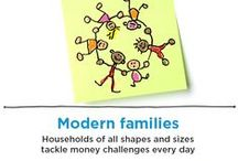 Money & Families / From newlyweds to empty-nesters to single-parent families. Households come in all shapes and sizes and tackle money challenges every day. A collection of resources to help your family get financially fit.