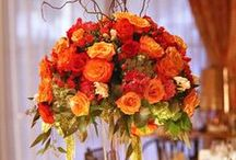 original orange wedding / orange is not my favorite color, but I think that some ideas are very cute and original for example for autumn wedding