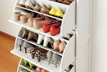 Organize / Don't waste your mornings running around looking for your favorite shoes, take these ideas for easy and adorable organization!