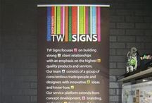 Display / Display pictures of creations made in shop, check us out at http://www.twsigns.com/ for any enquiries