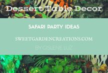 SAFARI KIDS BIRTHDAY Party Ideas / Dessert table by Sweet Garden Creations