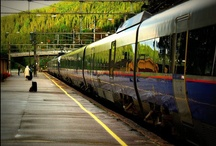 """Trains and Railway stations / Trains are fascinating machines, creating space on crowded roads and highways, bringing millions of people to their work or their school and back home, tourists to their beloved cities, are the most """"green"""" ecological way of travelling and support with it the re-balancing of nature."""