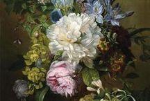 Still life ~ Flowers ~ by Dutch painters / Rachel Ruysch, Jan van Huysum, Willem van Aelst, Jan Frans van Dael.....