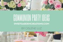 COMMUNION Party Ideas / Dessert tables by Sweet Garden Creations