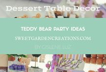 Teddy Bears Party Ideas / Dessert tables by sweet garden creations
