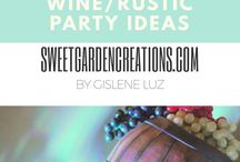 Wine Party Theme Ideas / wine grapes pasrty ideas