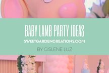 Baby Lamb party ideas / It's a girl baby lamb party theme