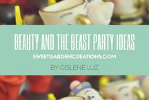 Beauty and the Beast Party ideas / Elegant Belle party princess party theme Sweet Garden Creations, Table scapes, dessert tables, sweets, candy, chocolate, beauty and beast party