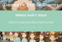 Prince Party ideas / baby shower, sweets, chocolates, design cakes, table escape, favors, party, elegant,