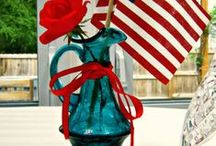 Holiday: Red White and Blue / crafts, diy, decor, recipes and more with a patriotic theme