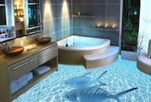 Bathroom Beauty / Some beautiful collection of bathrooms that looks like are made for catching your attention.