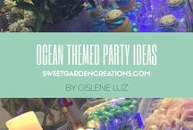 Ocean Theme Party Ideas / ocean theme party, sweets, desserts, candy station, party fun , kids, cake, cupcake, cake-pops etc