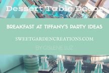 Breakfast at Tiffany Party Ideas / breakfeast at Tiffany, tiffany box   theme party, sweets, desserts, candy station, party fun , kids, cake, cupcake, cake-pops etc, cristina design cakes