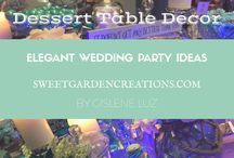 Elegant Wedding Table ideas / elegant wedding desserts, luxurious wedding display cake presentation