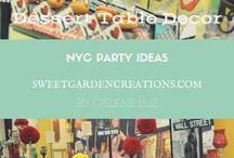 NYC Party Theme Party Ideas / New York party theme, i love NYC, desserts, cake, cake pops , fun party