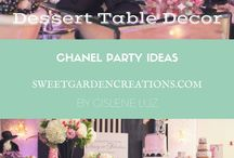 """Chanel"" Elegant Party Ideas / Party ideas to design an awesome, pretty and elegant Coco Chanel themed party"