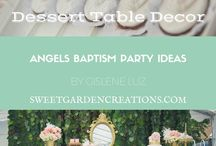 Angel Baptism Theme Party ideas