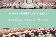 Minnie Mouse Party Ideas / Minnie mouse party decor, candy, sweets, first birthday, cake, cupcake, cakepops, dessert stations