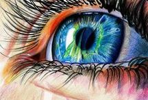 ART painting eyes (mon oeil !!) / drawing and painting eyes dessiner et peindre les yeux