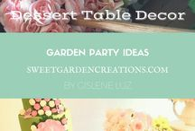 Garden Party Ideas / Girly birthday ideas, soft pink, cupcakes, cakepops , birthday girls