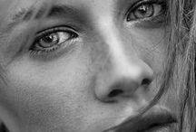 FACES paintings ideas / photos females faces photos de visages de femmes