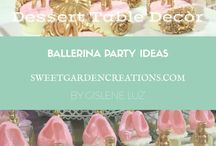 Ballerina Party Ideas / Vintage Ballet ballerina fancy first birthday baby girl