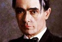 """Anthroposophy ~ Rudolf Steiner / Rudolf Steiner (27 (1861 – 1925) was an Austrian philosopher, social reformer, architect and esotericist. He founded an esoteric spiritual movement, named """"Anthroposophy""""."""