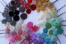 Flower Hair Pins / by Megan Biesinger