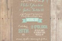 Wedding invitation / a mood board for Christelle and Jonathan wedding invite
